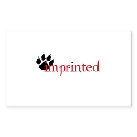 Imprinted Rectangle Sticker