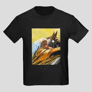 """""""SADDLED"""" Kids Dark T-Shirt"""