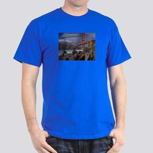 Golden Gate from the Pacific Dark T-Shirt