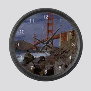 Golden Gate from the Pacific Large Wall Clock