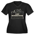 Camp Morningwood Women's Plus Size V-Neck Dark T-S