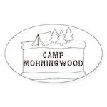 Camp Morningwood Oval Sticker