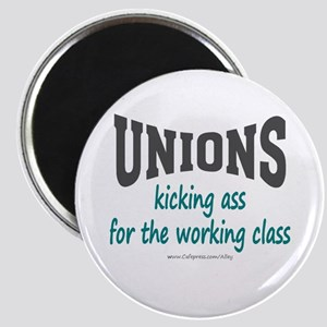 Unions Kicking Ass Magnet