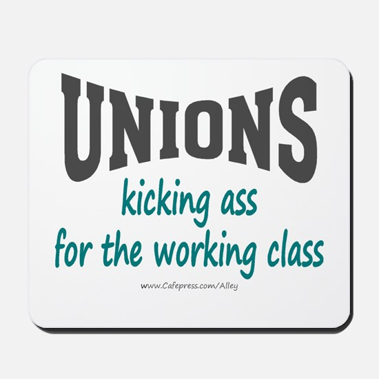 Unions Kicking Ass Mousepad