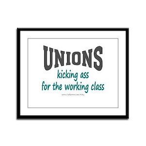 Unions Kicking Ass Framed Panel Print