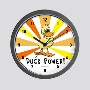Duck Power Wall Clock