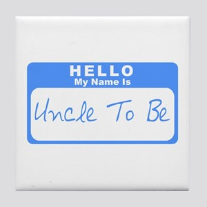 My Name Is Uncle To Be (Blue) Tile Coaster