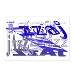 Jazz Blue Postcards (Package of 8)