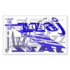 Jazz Blue Rectangle Sticker 50 pk)