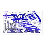 Jazz Blue Rectangle Sticker 10 pk)