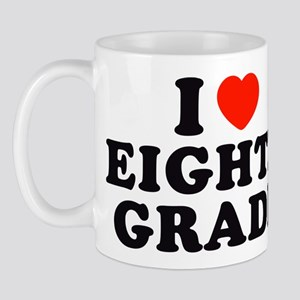 I Heart/Love Eighth Grade Mug