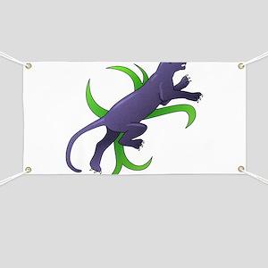 Panther Animal Art Tattoo Banner
