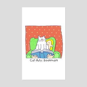 Cat Duty: Bookmark Rectangle Sticker