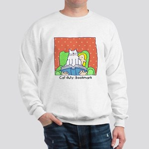 Cat Duty: Bookmark Sweatshirt