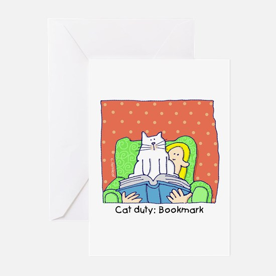 Cat Duty: Bookmark Greeting Cards (Pk of 20)