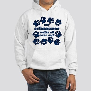 Schnauzer WALKS Hooded Sweatshirt
