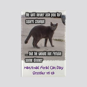 National Feral Cat Day Rectangle Magnet (10 pack)