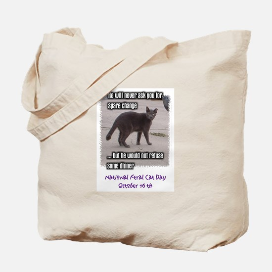 National Feral Cat Day 2 Side Tote Bag