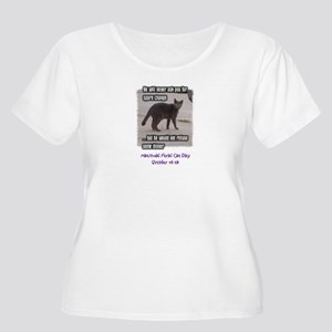 National Feral Cat Day Women's Plus Size Scoop Nec