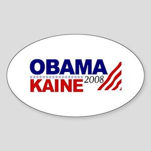 Obama Kaine 2008 Oval Sticker