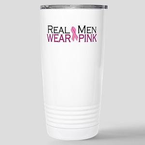 Real Men Wear Pink Stainless Steel Travel Mug