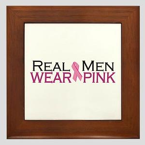 Real Men Wear Pink Framed Tile