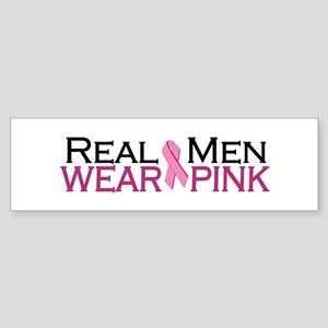 Real Men Wear Pink Sticker (Bumper)