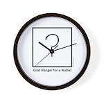 Coat Hanger for a Nudist Wall Clock