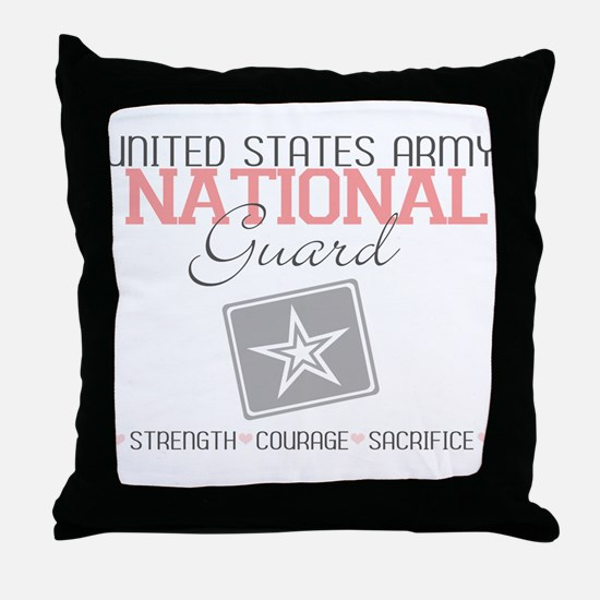 United States Army National G Throw Pillow