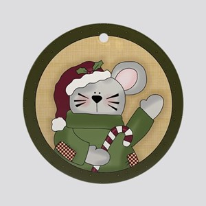 Christmas Mouse Country Ornament