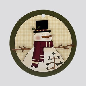 Country Snowman Christmas Ornament