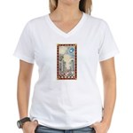 Masonic Light Women's V-Neck T-Shirt