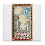 Masonic Light Tile Coaster