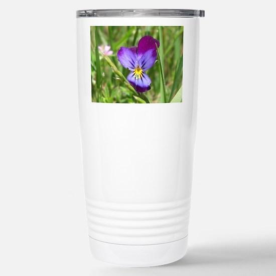 Field Flower Stainless Steel Travel Mug
