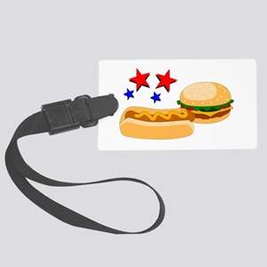 American Hot Dog And Burger Large Luggage Tag