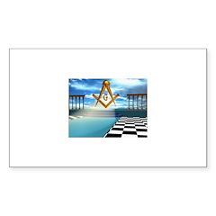The Three Steps Rectangle Sticker 50 pk)