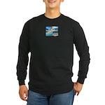 The Three Steps Long Sleeve Dark T-Shirt
