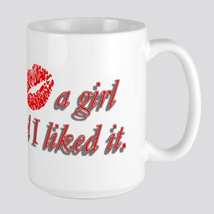 I kissed a girl and I liked i Large Mug