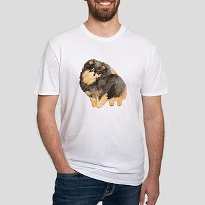 Blk. & Tan Pomeranian Fullbod Fitted T-Shirt