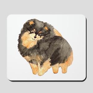 Blk. & Tan Pomeranian Fullbod Mousepad