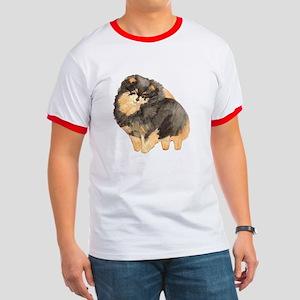 Blk. & Tan Pomeranian Fullbod Ringer T