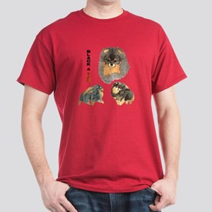 Blk.& Tan Pomeranian Collage Dark T-Shirt