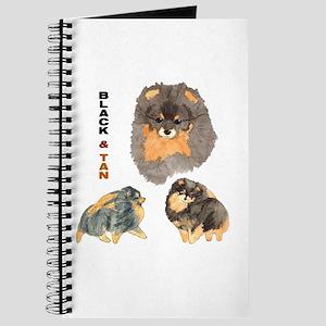 Blk.& Tan Pomeranian Collage Journal