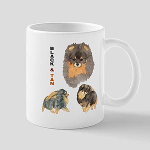 Blk.& Tan Pomeranian Collage Mug