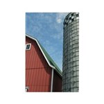 Red Barn Rectangle Magnet (100 pack)