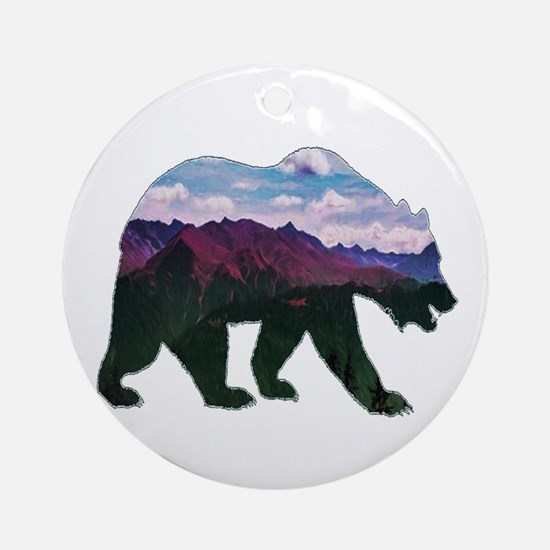 BEAR Round Ornament