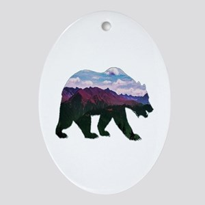 BEAR Oval Ornament