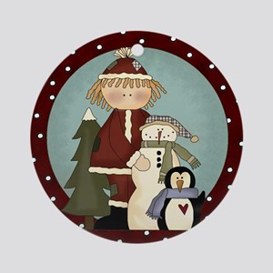 Sweet Winter Holiday Tree Ornament