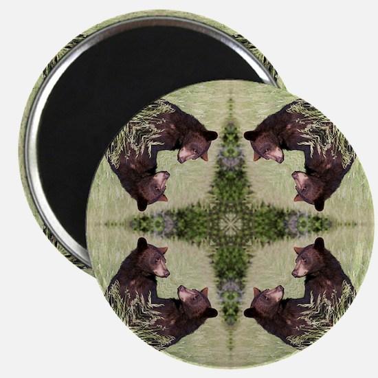 Black Bear Mandala Magnet