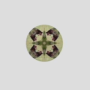 Black Bear Mandala Mini Button